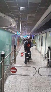 Ankunft James in Deutschland