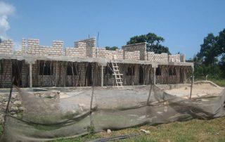 Rohbau des Gebäudes für die Klassen 5 bis 8