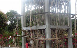 Errichtung des Wasserturms