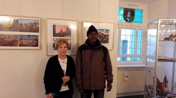 Besuch der Fotoaustellung mit Frau Hoheisel
