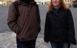 In der Stadt auf dem Markt mit Frau Hoppmann