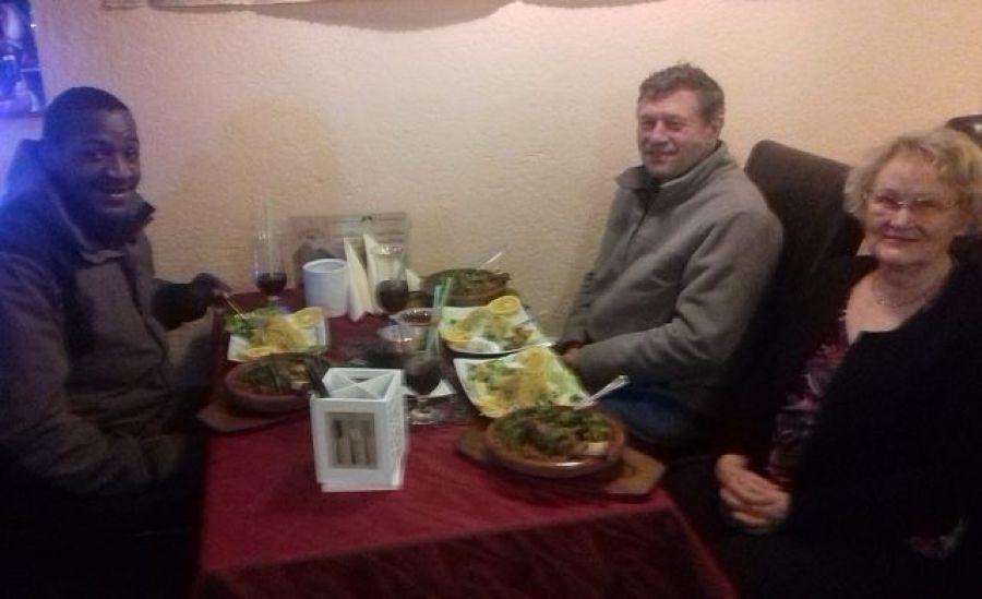 Beim Abendessen mit Fam. Misselwitz