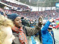 beim Spiel RB in Leipzig