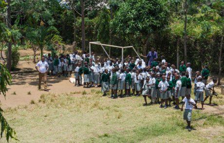 Pausenveranstaltung auf dem Schulhof