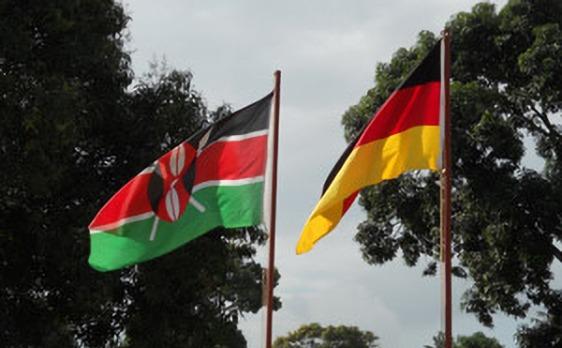 Flagge von Kenia und Deutschland